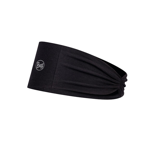TAPERED HEADBAND SOLID BLACK